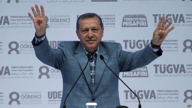 """""""Türkiye'nin siyasi ve büyük ölçüde ekonomik geleceği, Erdoğan'ın mahkemeler veya Meclis'ten pek muhalefet gelmeyecek bir başkanlık sistemini hayata geçirip geçirememesine bağlı. Dış dünyadaki değişikliklere rağmen, Cumhurbaşkanı'nın kolay paranın siyaset ve ekonomik getirilerine bel bağlamasından kaygı duyuluyor. Türkiye nin ikilemi bu: Bir dönemin ekonomik başarısı, liderinin gücü elinde toplamasına yardımcı oldu. Şimdi muarızları, daha fazla güç konsolidasyonunun Türkiye'nin geleceğine zarar vereceği uyarısında bulunuyor."""