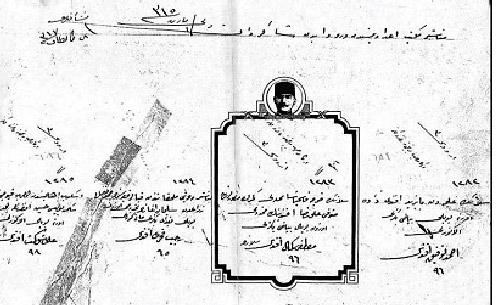 """İşte o nüfus kaydı 18 Ekim 1922 tarihli ilk nüfus kaydında Atatürk için, """"Balada isim ve şöhreti ve hal ve sınıfı muharrer olan Gazi Mustafa Kemal Hazretleri Devlet-i Aliyye'nin tabiiyetini haiz olup ol suretle ceride-i nüfusta nukayyet olduğunu müşir iş bu tezkere ita kılındı"""" ifadeleri yer alırken şu bilgiler veriliyor: İsim ve Şöhreti: Gazi Mustafa Kemal Hazretleri Pederi ismiyle Mahall-i İkameti: Tüccardan Ali Rıza Validesi İsmiyle Mahall-i İkameti: Zübeyde Hanımefendi Tarih ve Mahall-i Veladeti: Selanik sene 1296 Bin iki yüz doksanaltı Dini: İslam Sanat ve Sıfat ve Hizmet ve İntihap Salahiyeti: Türkiye Büyük Millet Meclisi Reisi ve Başkumandan Müteehhil ve Zevcesi Müteaddit Olup olmadığı: Mücerret"""