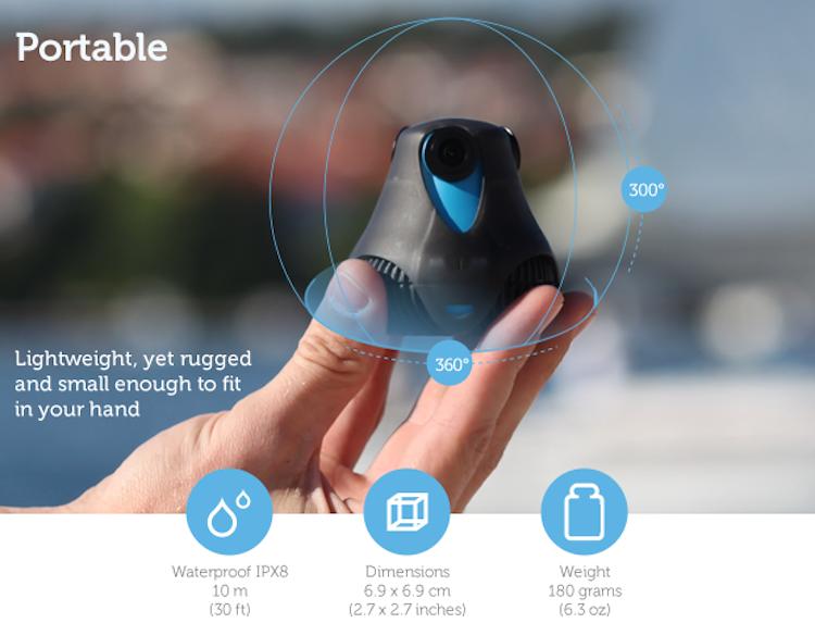 360cam by Giroptic Topladığı fon ($): 1,419,068 360 derece HD çekim ve Wi-Fi ile eşzamanlı yayınlama özelliklerine sahip kamera, Temmuz 2014'te fonlandı.