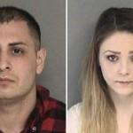 Gasp olayının polise yansımasının ardından Alexander Nejat ve Katherine Stump (sağda) gözaltına alındı.