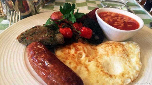 Milestone Hotel'de İngiliz kahvaltısı