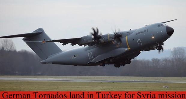 German Tornados land in Turkey for Syria mission
