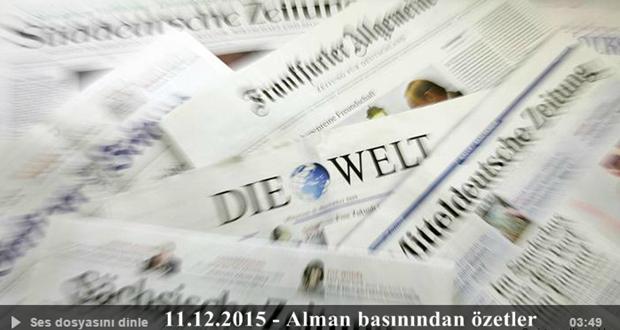 11.12.2015 - Alman basınından özet başlıklar
