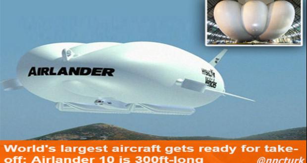 Dünyanın en büyük Uçağı Airlander'in test uçuşu için geri sayım
