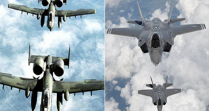 F-35 jets against each other in 'war games' to see which really is the top gun
