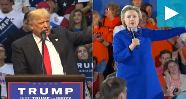 Trump, Clinton look to pull ahead with East Coast primaries