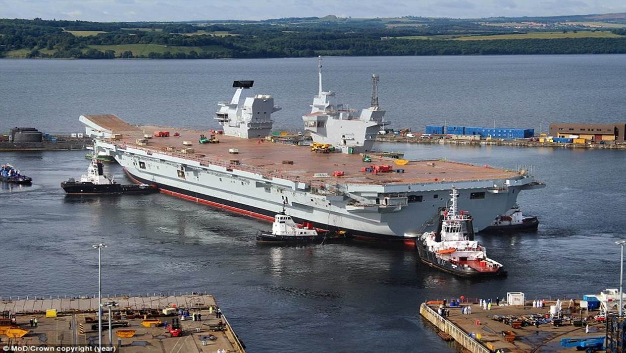 British Aircraft Carrier Queen Elizabeth Coming soon: The new H...
