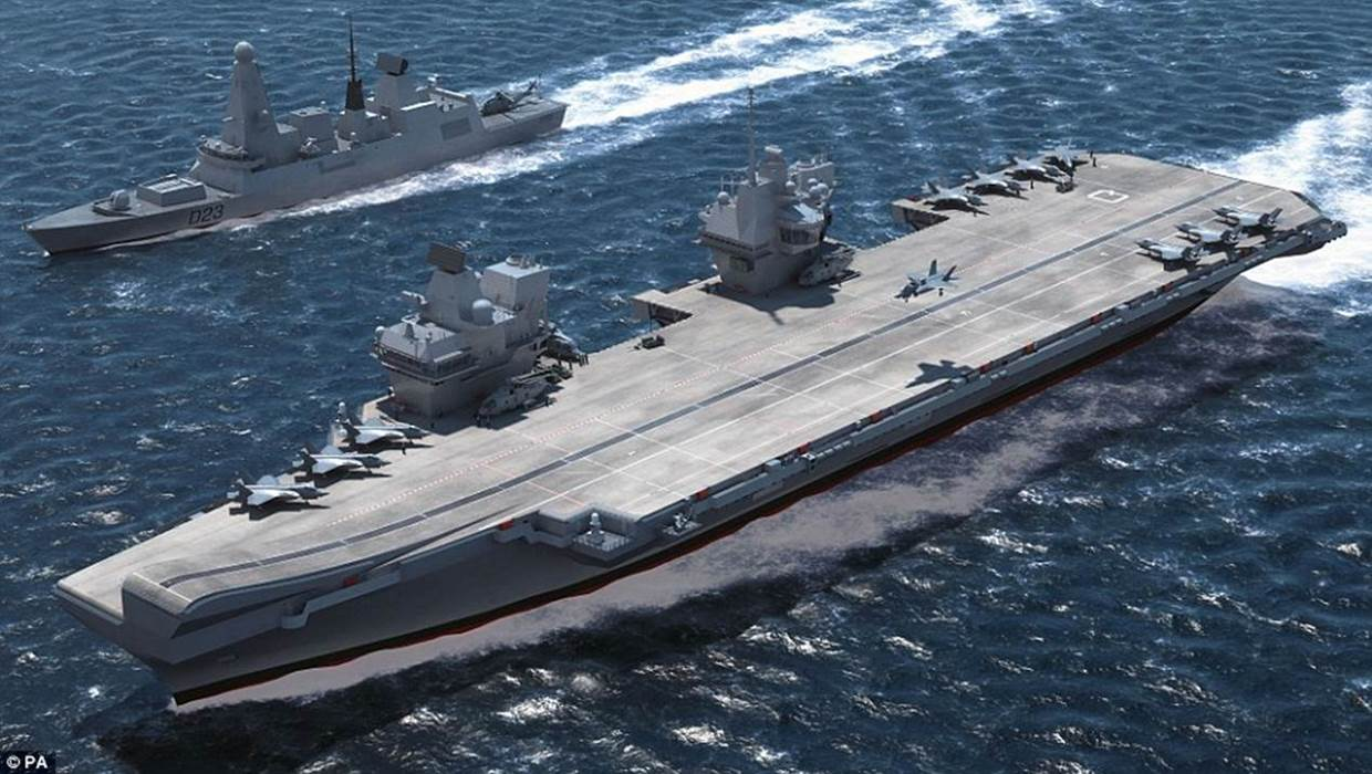 Coming soon: The new HMS Queen Elizabeth aircraft carrier