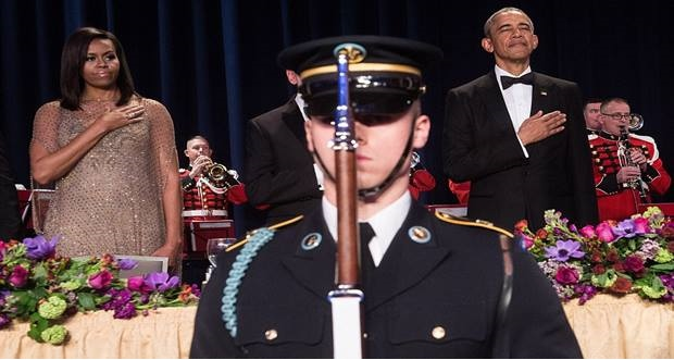 Barack Obama and his final White House Correspondents' Dinner speech