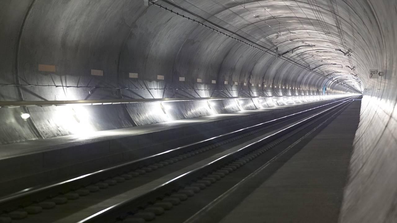 Look inside world's longest rail tunnel in Switzerland