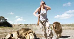 Lion Takes Revenge On Trophy Hunter: Lion takes its revenge on trophy hunter but viewers are skeptical
