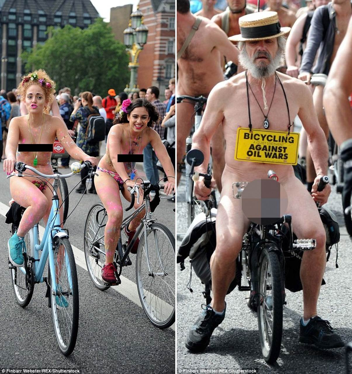 Woman Cycling Naked Through London To Raise Money For Mental Health