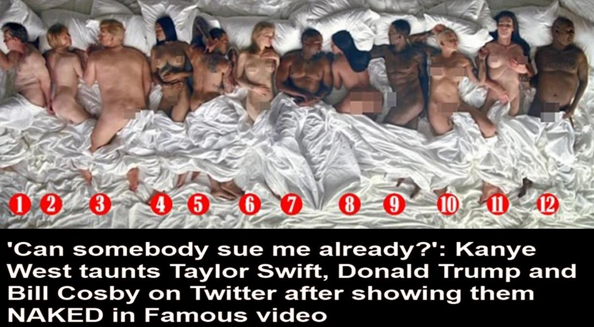 Famous naked in bed