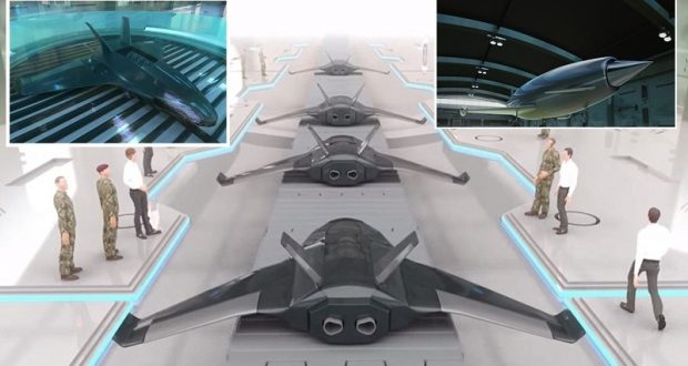 GROWING DRONES IN VATS Bae Systems Says Future Drones Will Be Grown With Chemistry