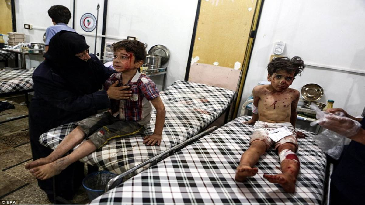 WARNING GRAPHIC CONTENT: Child victims of Syrian war | Akademi Portal