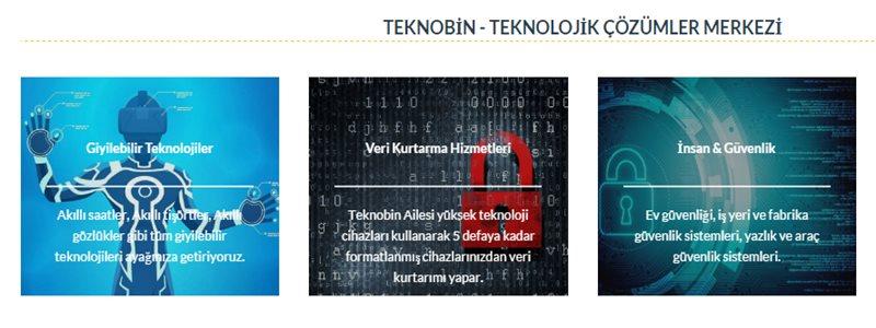 TeknoBin Teknolojik Çözümler Merkezi Hizmetleri