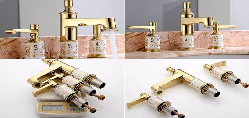 Altın kaplama özel tasarım lüks pirinç musluklar-natronet Türkiye