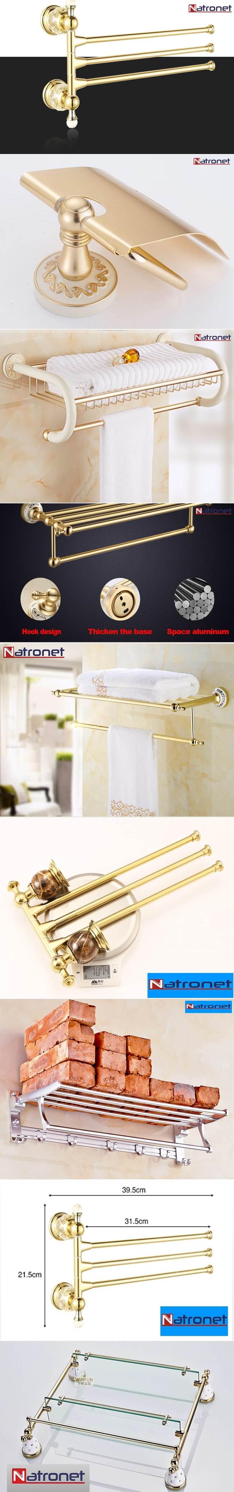Lüks banyo havluluklar altın kaplama pirinç- bronz ürünler