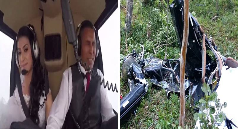 Tragic moment a bride dies in a horrific helicopter crash Video