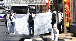 BREAKING NEWS: Moments after a car crashes into bus stop in Marseille