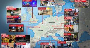 Terror Archive: Map shows jihadi attacks Europe two years (Europe)