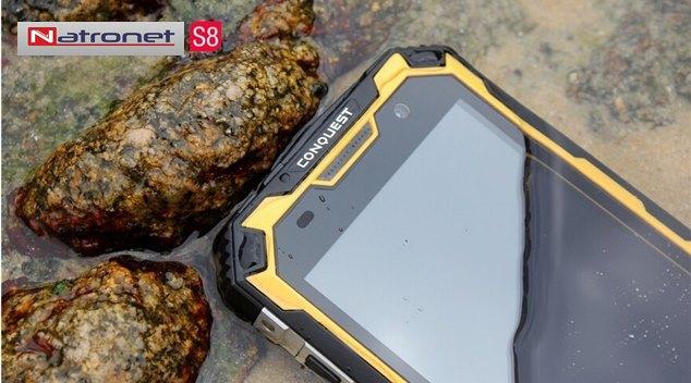 Su Geçirmez Telefon 6000 mAh Pil GPS NFC PTT 4G