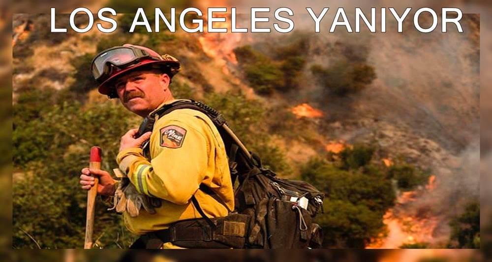Los Angeles büyük bir orman yangınıyla mücadele ediyor