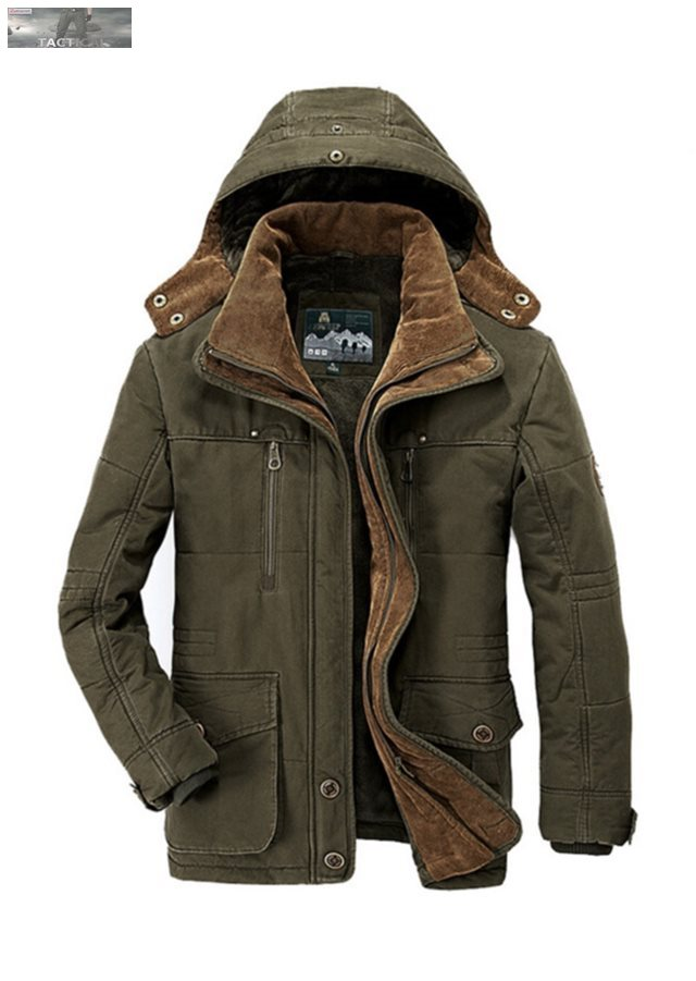 Askeri Stil Ceketler: Erkek Mont - Parka Jaqueta Masculino