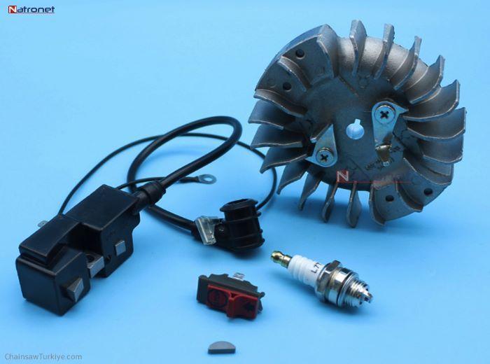 HUSQVARNA İçin Silindir Piston Krank Debriyaj Susturucu Setleri