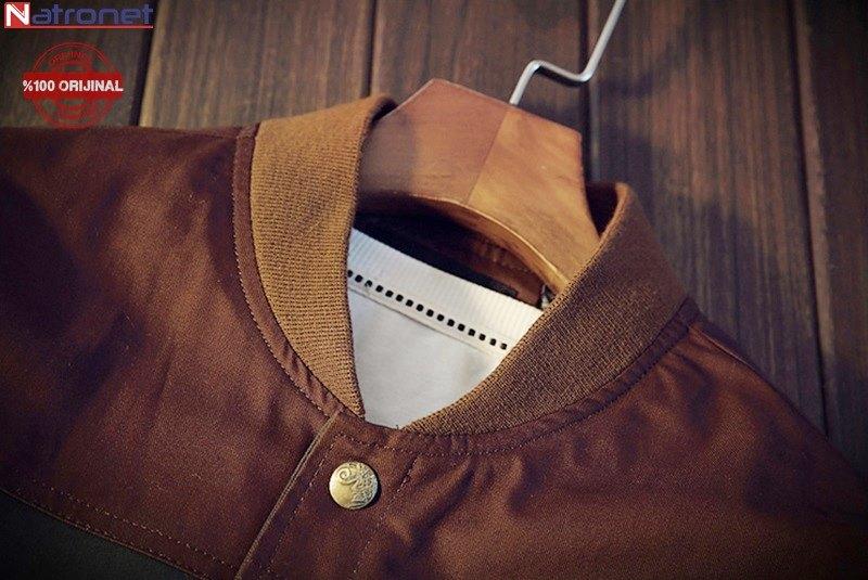 Furino Jacket: Yeşil ve Kahverengi Beyzbol Ceket İtalyan Tasarım