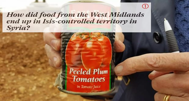 How did food from the West Midlands end up in Isis