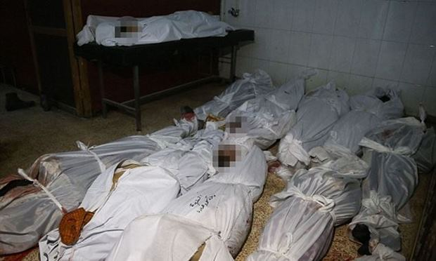Children 98 people killed Assads airstrikes (Video)