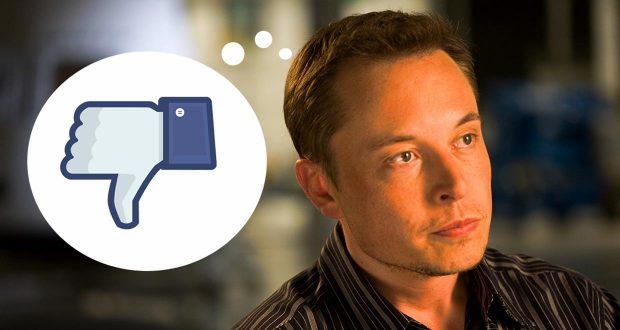 Elon Musk Facebook'u Sildi