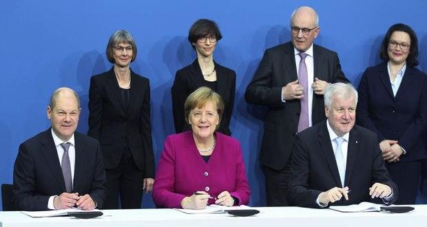 Almanya'da Pazartesi günü imzalanan koalisyon anlaşması içeriği