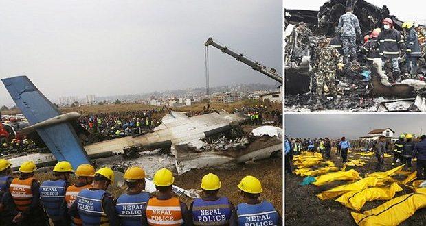 Katmandu'da uçak düştü: En az 50 ölü ve yaralılar var