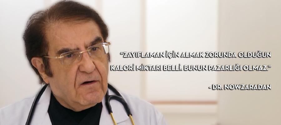 Dr. Nowzaradan'ın 1000 kalorilik özel ve gizli diyet listesi