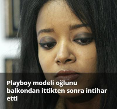 Playboy modeli Stephanie Adams intihar etmeden önce oğlunu balkondan attı