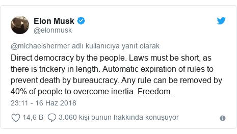 Doğrudan demokrasi: Elon Musk'tan Mars yönetim şekli vizyonu