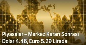 Merkez Bankası Kararı Sonrasında Dolar ve Euro Geriledi