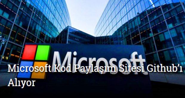 Microsoft Kod Paylaşım Sitesi Github'ı Satın Alıyor