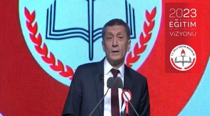 Milli Eğitim Bakanı Ziya Selçuk'un 2023 Eğitim Vizyon Belgesi
