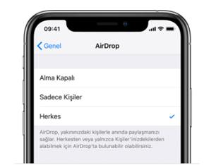 AirDrop: iPhone iPad veya iPod touch'ta AirDrop'u kullanma