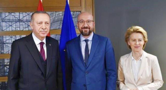 Times, Erdoğan'ın AB'yle yaptığı görüşmeyi terk ettiğini yazdı