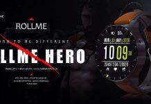 Rollme HERO PRO Çerçevesiz Tam Ekran 4G 1.69 İnç 8.0 + 13.0MP Çift Kameralı Akıllı Saat