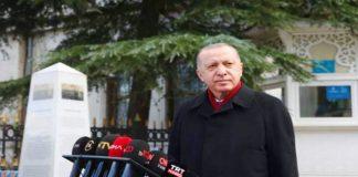 Cumhurbaşkanı Erdoğan Cuma namazı çıkışında basın mensuplarının sorularını yanıtladı