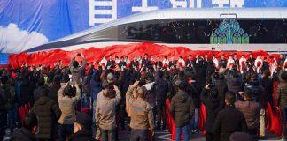 Çin'den saatte 644 kilometreye kadar hızlanabilen yeni uçan tren