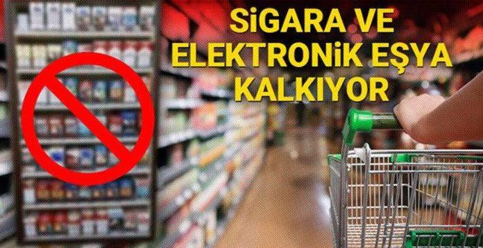 Zincir marketler sigara ve elektronik eşya satamayacak