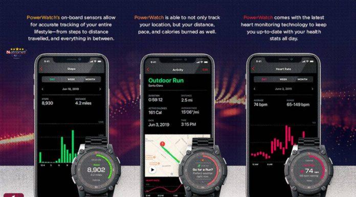PowerWatch 2 Premium Vücut Isıyla Çalışan Spor Takipçisi Akıllı Saat