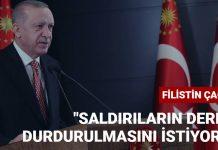 Cumhurbaşkanı Erdoğan'dan Filistin Çağrısı