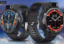 KOSPET Optimus 2 Çift Modlu Çift Çip 4GB+64GB Sekiz Çekirdekli 4G-LTE GPS+Beidou Android 10.7 SpO2 Monitör Akıllı Saat | Kospet Türkiye NatroNet Global'de